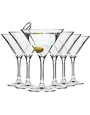Krosno Copas Martini Cóctel | Conjunto 6 Piezas | 150 ML | Elite Collection Uso en Casa, Restaurante y en Fiestas | Apto para Microondas y Lavavajillas