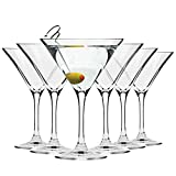 Krosno Martini Cocktail Glasses | Set of 6 | 150 ML | Elite Collection | Perfect for Home, Restaurants and Parties | Dishwasher and Microwave Safe