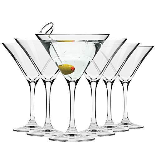 Krosno Copas Martini Cóctel | Conjunto 6 Piezas | 150 ML | Elite Coll