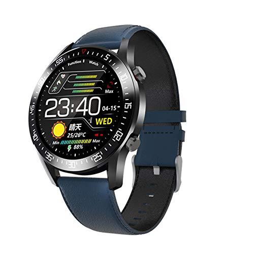 ZYD IP68 wasserdicht Smart Watch C2 Full Touch Rundsieb Herzfrequenz-Blutdruck-Monitor Smartwatch für Mann-Frauen-Uhren,Blau