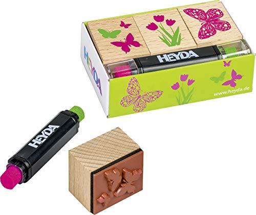 Heyda 204888697 Heyda 204888697 Stempel-Set (Spring) Setgröße: 8 x 4,5 x 2,5 cm, 3 Holz-Stempel