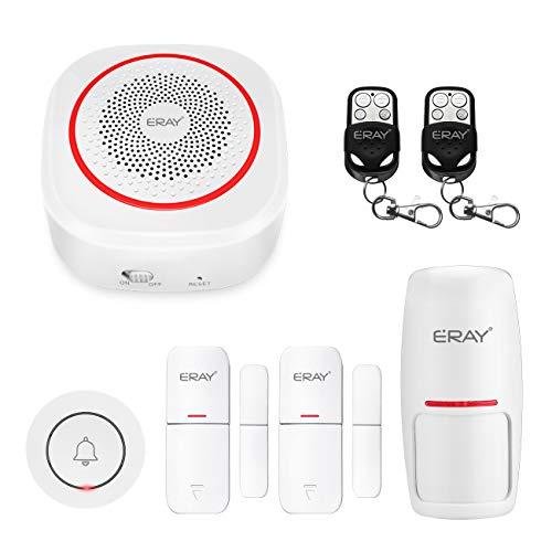 Sistema di Allarme Intelligente con Integrazione Alexa/Google, ERAY H3 Controllo App del Sistema di Allarme WiFi (iOS/Android) / Espandibile/Multifunzione, Sistema di Sicurezza Domestica Wireless