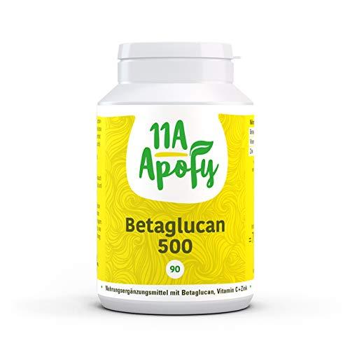 11A-Apofy | Betaglucan 500 | Aus Reinzuchthefe | Mit Vitamin C und Zink | 90 Kapseln