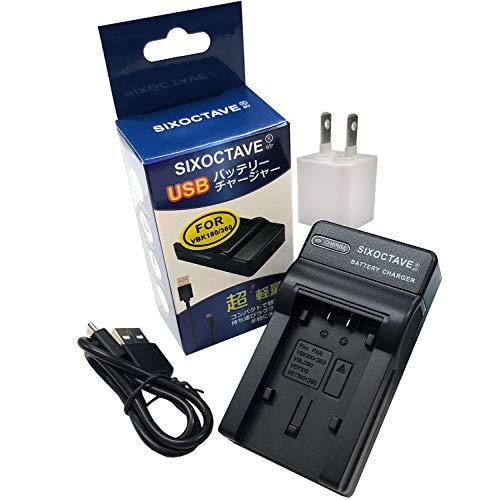 SIXOCTAVE [ACアダプター付き コンセント充電も対応] パナソニック VW-BC10-K 互換USB充電器カメラバッテリーチャージャーVW-VBK360-K/VW-VBK180-K/VW-VBT190-K/VW-VBT380-K/VW-VBK180/VW-VBK360/VW-VBT380/VW-VBT190 HC-WX1M/HC-WZX1M/HC-VX1M HDC-TM70/HDC-TM35/HDC-TM90/HDC-TM95/HDC-TM85/HDC-TM45/HDC-TM25/HC-V700M/HC-V600M/HC-V300M/HC-V100M/HC-WX995M/HC-VX985M HC-V210M HC-V230M HC-V360M HC-V480M HC-V520M HC-V550M HC-V620M HC-V720M / HC-V750M HC-VX980M HC-W570M HC-W580M HC-W850M HC-W870M HC-WX970M HC-WX990M HC-WXF990MHC-W590M HC-W585M HC-VX992M