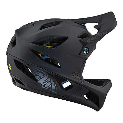 Troy Lee Designs Adult Downhill Enduro Mountain Bike Full face Stage MIPS Stealth Helmet (Medium/Large, White)