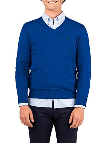 El Ganso CASUAL 1 Jersey, Azul (Klein 0007), Large para Hombre