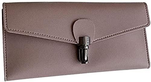 RQHZX Classic Design Tenacious Wallet Ladies Bag Women's Wallet Clutch Perfect Wild (Color : Purple) (Color : Purple)