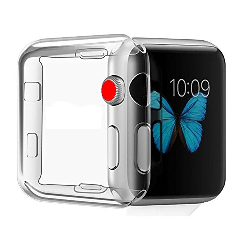 NXET Case for Apple Watch Series 3 38mm Soft Slim TPU Bumper Case Scratch Resistant Protective Cover for Apple Watch Series 3 Nike+, Hermès, Edition(NOT for Series 4 /Series 2 / Series 1)(38mm)