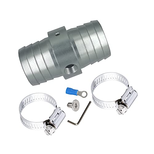 Yemtuls Radiator Hose Barb Coupler with 1 8  NPT Port 1-1 4  Steam Tube Adapter for LS Swap Steam Coolant Crossover Splice Made of Aluminum AN627-20X125