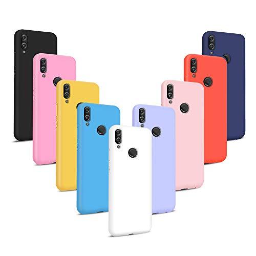 Coqin [9 Stücke] Kompatibel mit Huawei Honor 8X Hülle, Einfarbig Silikon Weich TPU Schutzschale, [Stoßfest] [Ultra-Slim] [Kratzfest] [Verschleißfest] [rutschfest] [Stilvoll] - 9 Farben