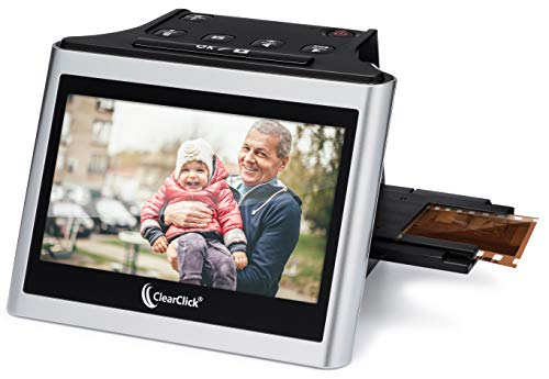 """ClearClick Virtuoso 2.0 (Second Generation) 22MP Film & Slide Scanner with Extra Large 5"""" LCD Screen - Convert 35mm, 110, 126 Slides and Negatives to Digital Photos"""