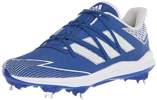 adidas Men's FV9391 Baseball Shoe, Blue/White/Blue, 13.5