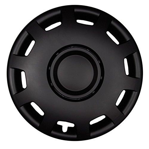 Premium Radkappen Radzierblenden Radblenden 'Modell: Granit' 4er Set, Farbe: Schwarz-Matt, Felgendurchmesser:16 Zoll