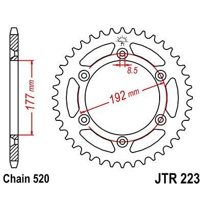 R2235 - Corona Plato transmision Trasero Dientes 53