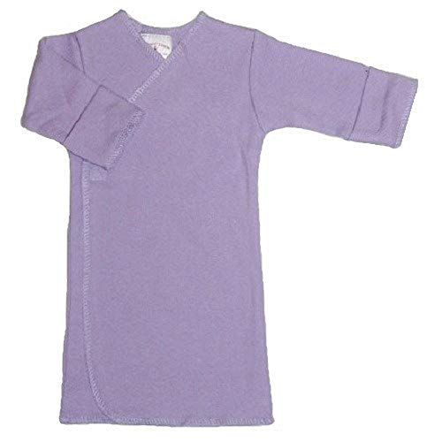 【未熟児】【低出生体重児】【早産児】【NICU】用 ベビー服:長袖長肌着 ラベンダー (1400〜2500g)