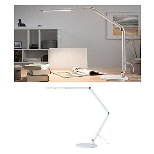 Paulmann 78911 LED Schreibtischleuchte FlexBar White Switch Tunable White incl. 1x10,6 Watt dimmbar Assistenzleuchten Weiß Tischleuchte 3000 K