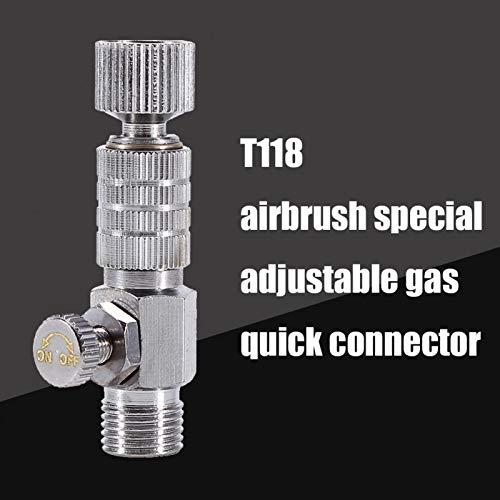 Fácil de instalar Fácil de usar Mayor vida útil Conector de 1 8 Conector de acoplamiento resistente, trabajo en casa para conectar el compresor de aire con aerógrafo