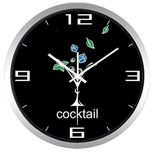 ONETOTOP Copa de cóctel cuelga de la Familia y el jardín Nueva Respuesta antigoteo Barra de Silencio Antigua Hermosa Ronda Reloj Colgante | Omega B431S 30 * 30cm