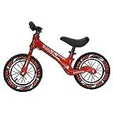 GASLIKE Bicicleta de Equilibrio para niños, sin Pedales, Ruedas de 12/14 Pulgadas, Asiento Ajustable, Primera Bicicleta para niños de 2-8 años de Edad, Estable y Segura,D 12inch Red