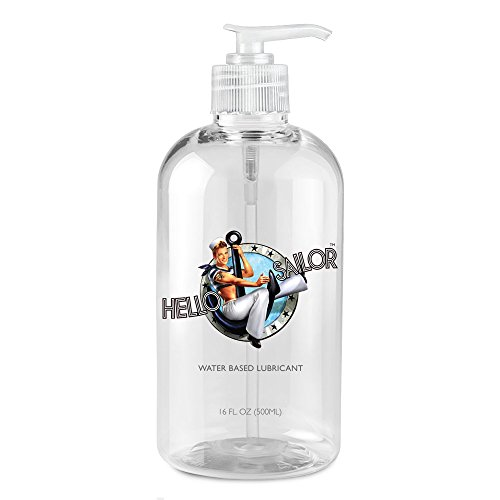 Hello Sailor Personal Water Based Lube 16 ounces. Made in USA