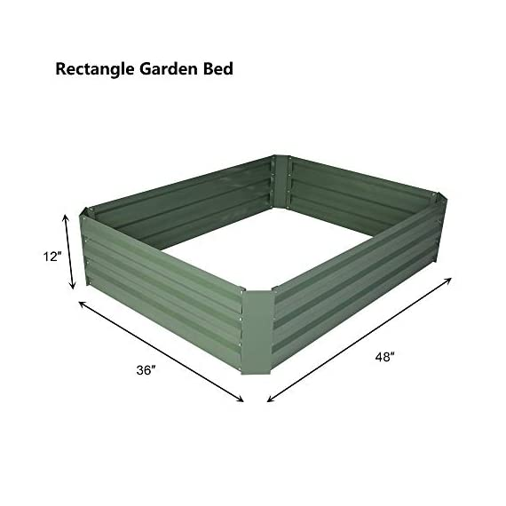 2-pack outoorraised garden bed galvanized planter box anti-rust coating planting vegetables herbs and flowers for… 4 wonderful planter box - 32in x32in x 12in square galvanized raised garden bed provide good drainage, keep weeds away from soil, defense against pests, and protect your plants; you can plant your favorite plants in your patio with this wonderful gardening tools. Safety material & edges - made of galvanized steel; which is rustproof and safe material ;do not contaminate soil, safe for plants and humans; outdoor bed kit edges are not sharp and will not hurt your fingers. High strength - metal piece designed with wave structure,provide better pressure resistance; thickened steel and reinforced corners can easily hold the soil and the plants.