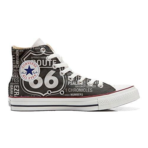 Shoes Sneakers Unisex Original USA personalisierte Schuhe (Handwerk Produkt) Route 66 Black - TG32