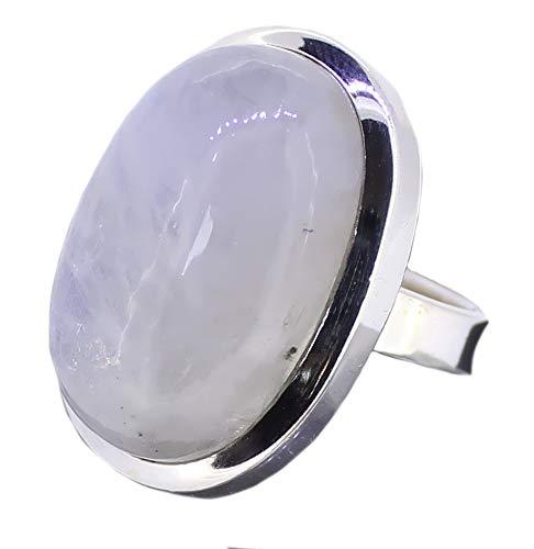 Regenbogenmondstein Ring Größe 57, Mondstein 925er Silberring