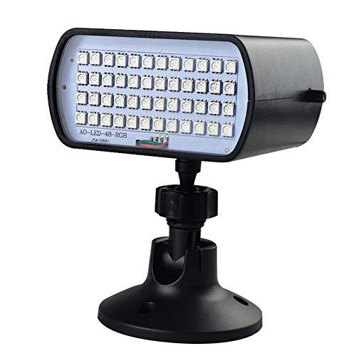 LBYLYH Disco-Kugel-Partei Beleuchtet 48 LED Farbenreiche Röhrenblitz-Lichter Sprachaktivierte Ktv-Blitz-Stab-Partei-Blinkende Stadiums-Lichter Für Auto-Ausgangsraum-Parteien Kinder Tanzen
