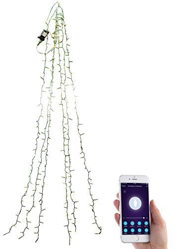 Lunartec Christbaum Lichterkette: WLAN-Tannenbaum-Überwurf-Lichterkette mit App, 6 Girlanden, 180 LEDs (Lichterkette Baum)