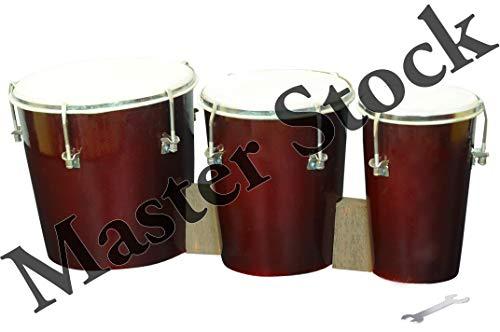 Master Stock Wooden Triple Bongo Drum (Coke)