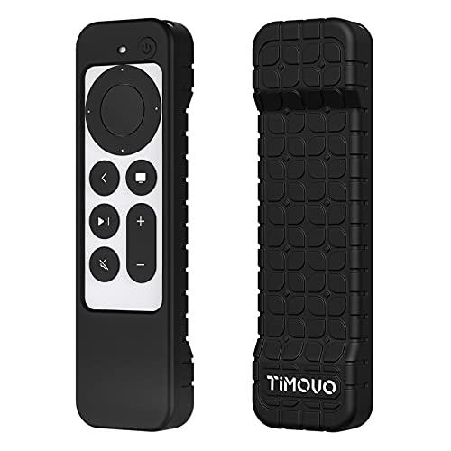 TiMOVO Funda Protectora Compatible con 2021 Apple TV 4K Siri Remote (2ª Gen), Cubierta de Silicona a Prueba de Golpe y Antideslizante Solo para Apple TV 4k 2021 Mando a Distancia Siri 2ª Gen, Negro