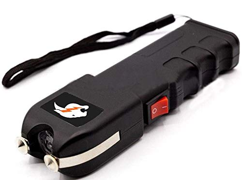 BP TRENDZ Cheetah Tactical Stun Gun- Rechargeable Powerful Portable Stun Gun Heavy Duty Built-in LED Flashlight with Carrying Case Best for Emergency Situations,Self Defense