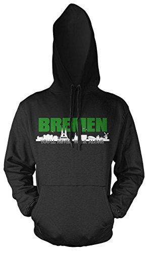 Bremen Skyline Kapuzenpullover   Hansestadt   Weser   Fussball   Ultras   Hemd   Männer   Herrn   Fan (XL)