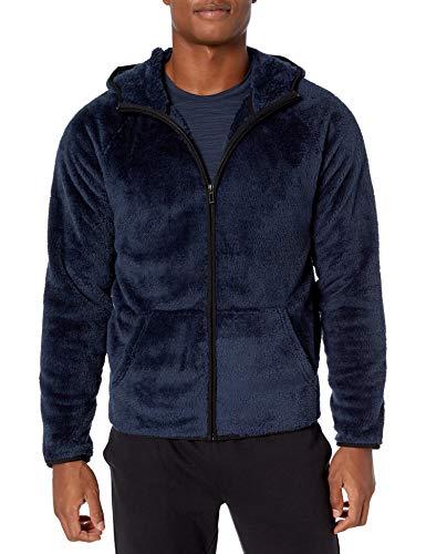 Peak Velocity Giacca da Uomo in Pile Sherpa Fleece-Outerwear-Jackets, Allegro, US L (EU L)