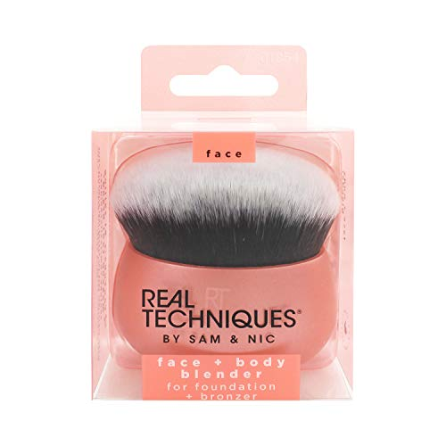 Real Techniques Makeup Brush Blender for Face & Body, Makeup Bag Essential for Foundation & Bronzer