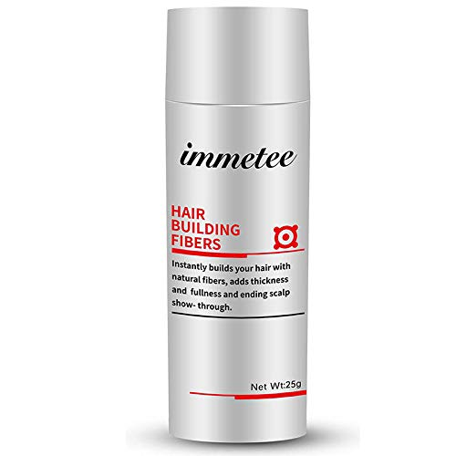 IMMETEE Keratin Hair Building Fibers Powder Conceal Instantly for Thinning Hair,Cover Up Hair Loss Natural Thickens for Men and Women-25g/0.88oz (BLACK)