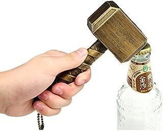Bayram Thor Hammer Bottle Opener | Beer Opener Big Bar Wine Mjolnir Bronze 16.5x7cm (Bronze)