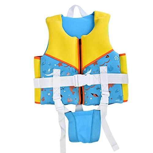 Swim chaquetas para niños Con chaleco de flotación Traje de flotabilidad ayuda del traje de baño del traje de baño Niños Niñas Formación y estudio del agua de deportes clásico Accesorios Azul Talla M