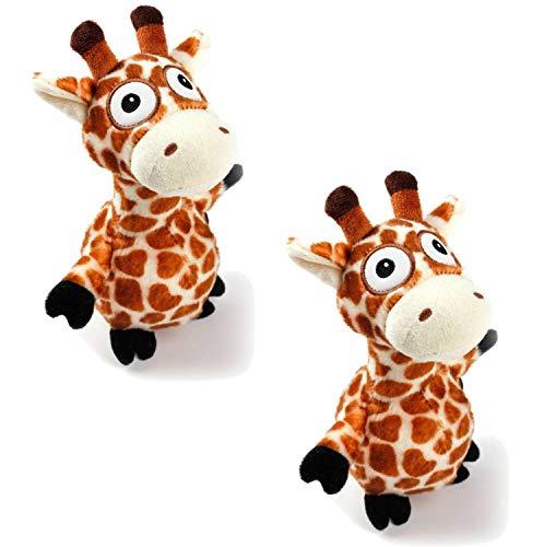 PETGARD 2er Sparpaket Ultrasonic Hundespielzeug mit extra leisem Quietscher 2 x Giraffe