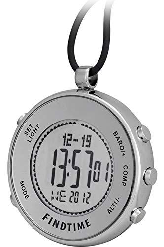 Findtime Unisex Taschenuhr Digital Quarz Altimeter Barometer Sport Outdoor Klettern