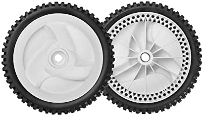 Front Drive Wheels Fit for Craftsman Lawn Mower – Front Drive Tires Wheels Compatible with Craftsman & HU Front Wheel Drive Self Propelled Mower Tractor, Replace 532403111 194231X427, 2 Pack, White