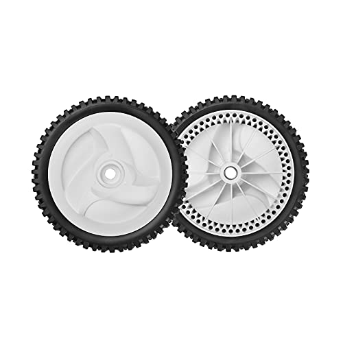 Front Drive Wheels Fit for Craftsman Lawn Mower - Front Drive Tires Wheels Compatible with Craftsman & HU Front Wheel Drive Self Propelled Mower Tractor, Replace 532403111 194231X427, 2 Pack, White