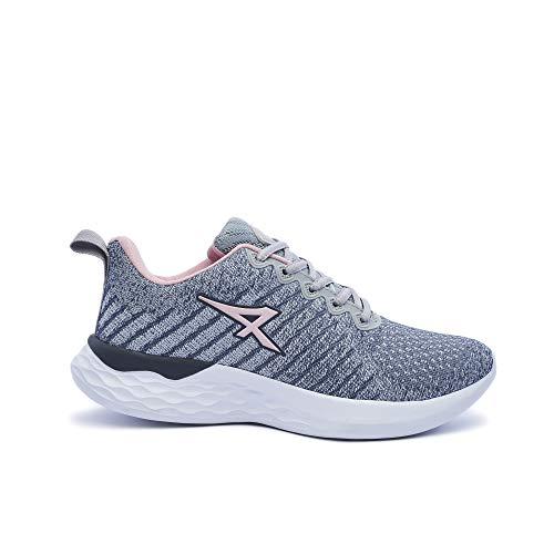 ATHIX Compaction Flexy - Zapatillas de Correr para Mujer, Gris (Gris/Rosa), 38 EU - Zapatillas cómodas y Transpirables