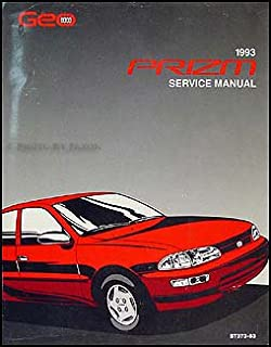 1993 Geo Prizm Repair Shop Manual Original