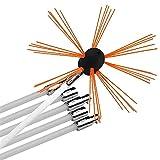 Schornsteinreinigungsbürste Kit Kamin-Rauch-Sweep-Werkzeuge Rotary Flexible Stangen Elektrischer Bohrernreiniger For Holzherd-Rohr (Size : 6m)