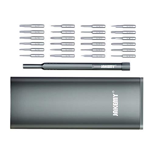 24 in1 Präzision Schraubendreher Set aus s2-Stahl, Uhrmacher Reparatur-Tool mit Magnetismus Box für Smartphone, PC, Laptop, Uhren