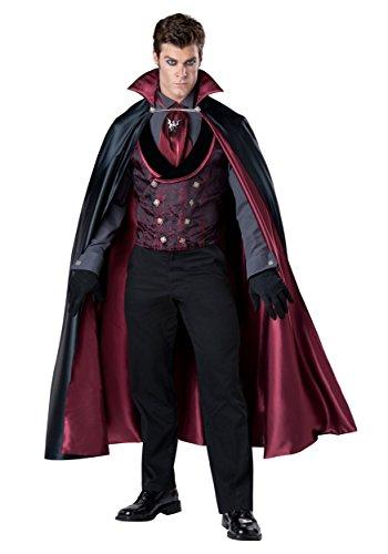 InCharacter Costumes Men's Nocturnal Count Vampire Costume, Black/Red, Medium
