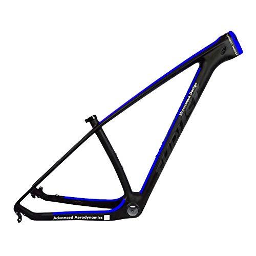 FLYAWAY Telaio in Carbonio MTB 29Er T1000 Telaio in Carbonio da MTB 29 * 17,5 Telaio in Carbonio Blu per Mountain Bike 142X12 Telaio per Bicicletta Blu Nuova Vernice