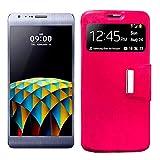 Mb Accesorios Funda Tapa Libro Rosa para LG X CAM - Interior. Silicona