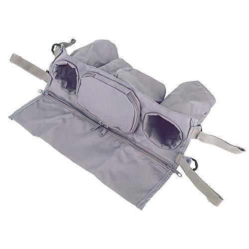Organizador del cochecito de bebé, portavasos práctico del cochecito de la tela de Oxford, carro para el cochecito del paraguas(gray)